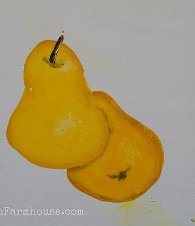 Learn How to Paint a Pear, one stroke at a time, FlowerPatchFarmhouse.com