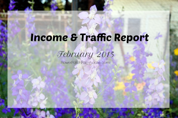 Income and Traffic Report FEb 2015, FlowerPatchFarmhouse.com