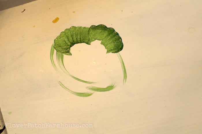 How to Paint a Head of Lettuce, FlowerPatchFarmhouse.com