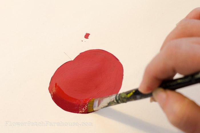 Learn how to paint a Tomato, FlowerPatchFarmhouse.com