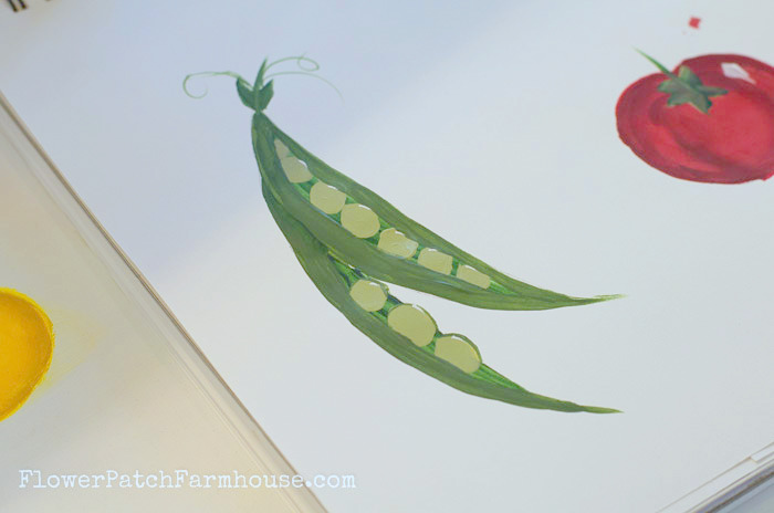 Learn to Paint Peas, FlowerPatchFarmhouse.com