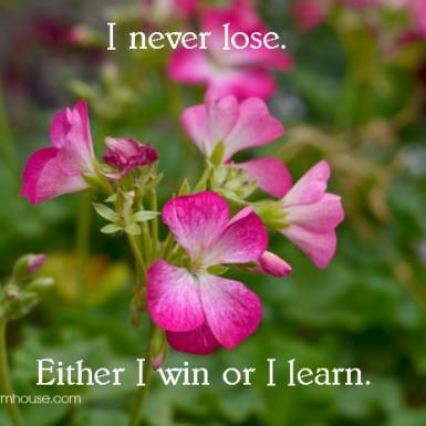 Inspiration Sunday – I Never Lose