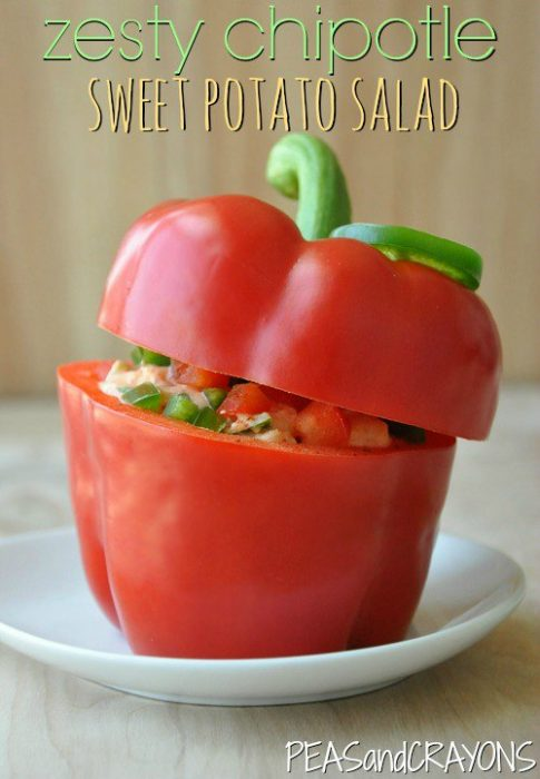chipotle potato salad stuffed pepper
