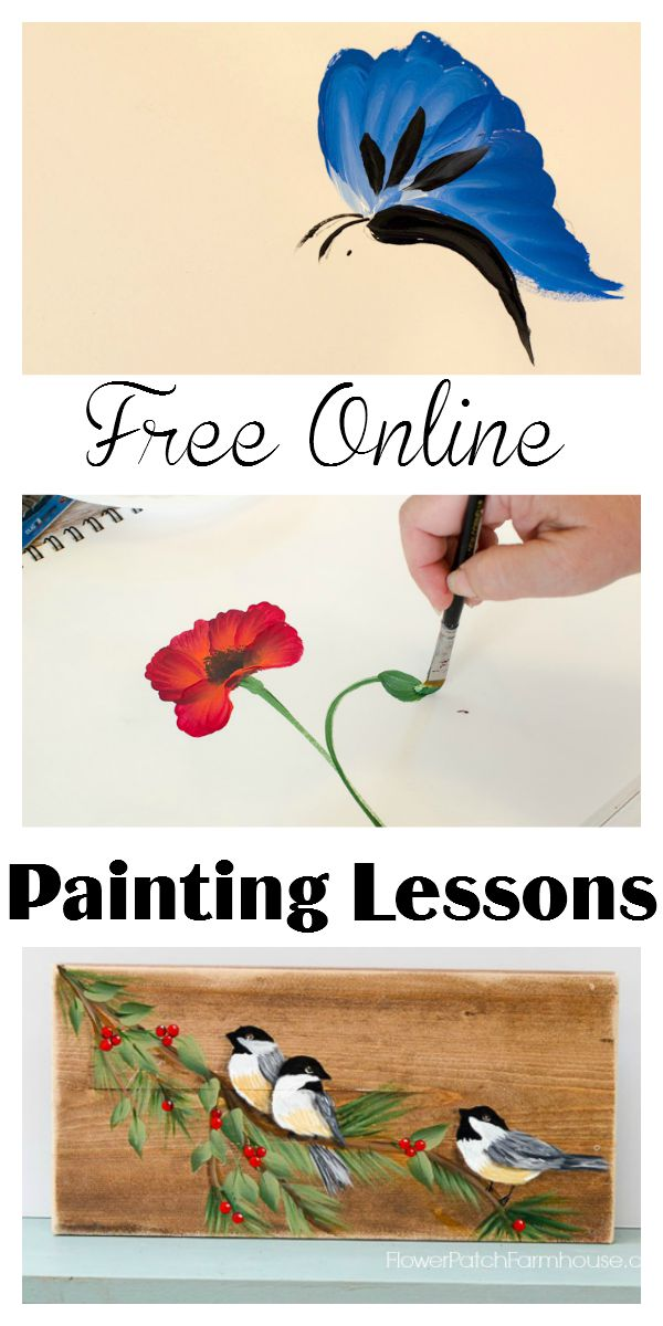 Free online painting lessons flower patch farmhouse for Learn to paint online