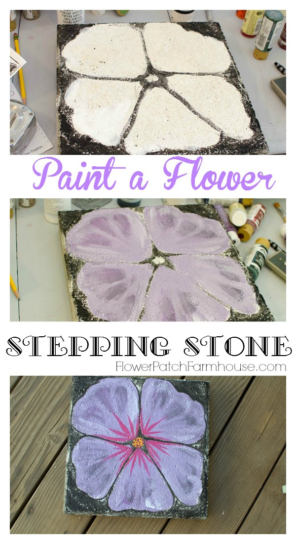 Easily Paint These Beautiful Blossoms On Plain Concrete