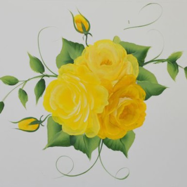 How to Paint Yellow roses dvd from FlowerPatchFarmhouse.com