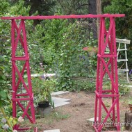 Easy DIY Obelisk Arbor