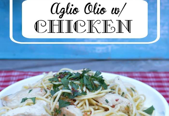 Aglio Olio with Delicious Chicken
