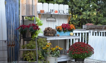 A Gorgeous Potting Bench for Fall