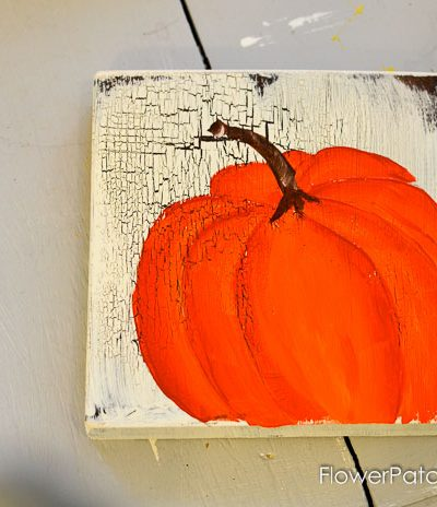 Learn How to Paint an Orange Pumpkin, great for Fall decor and crafts. Easy and so much FUN! FlowerPatchFarmhouse.com