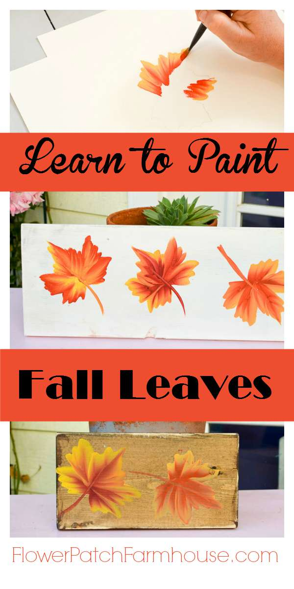 Learn how to paint colorful fall leaves flower patch for How to learn to paint
