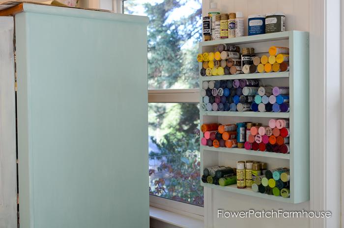 DIY cubby shelf for paint bottles, FlowerPatchFarmhouse.com (2 of 4)