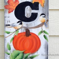 Hand Painted Welcome sign for Fall