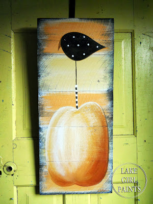 Pumpkin Crow Door Hanging