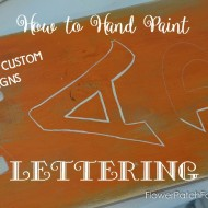 A Harvest Sign & How to Paint Lettering