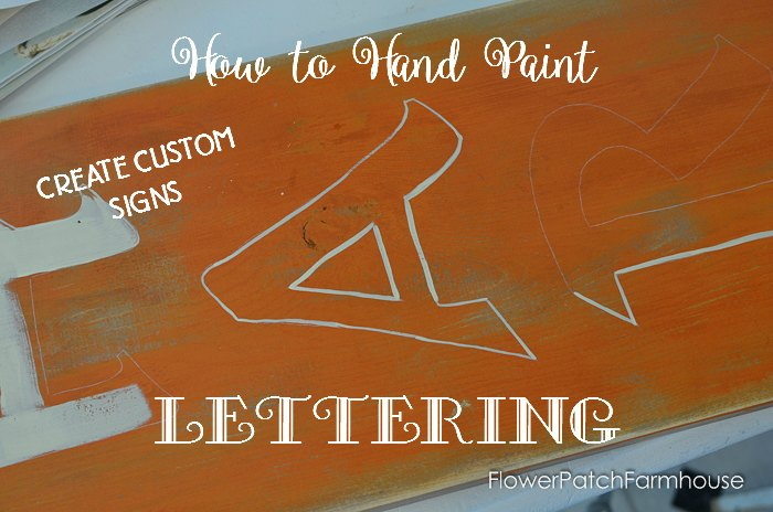 Fall Harvest Sign & How to Paint Lettering without a Stencil