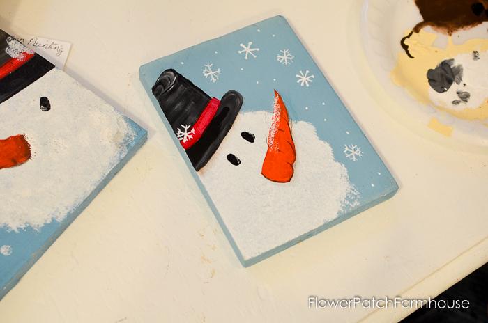 Let 39 s paint a snowman flower patch farmhouse for How to paint snowmen