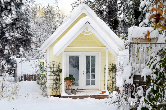 How to Build a Gorgeous She Shed, complete with link to step by step plans. Great for a home office, glorified garden shed or as an art / craft studio. Come see our photo album of building this one. FlowerPatchFarmhouse.com