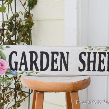 Rose Garden Shed sign, FlowerPatchFarmhouse.com (1 of 2)