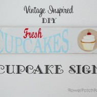 Vintage Inspired Cupcake Sign