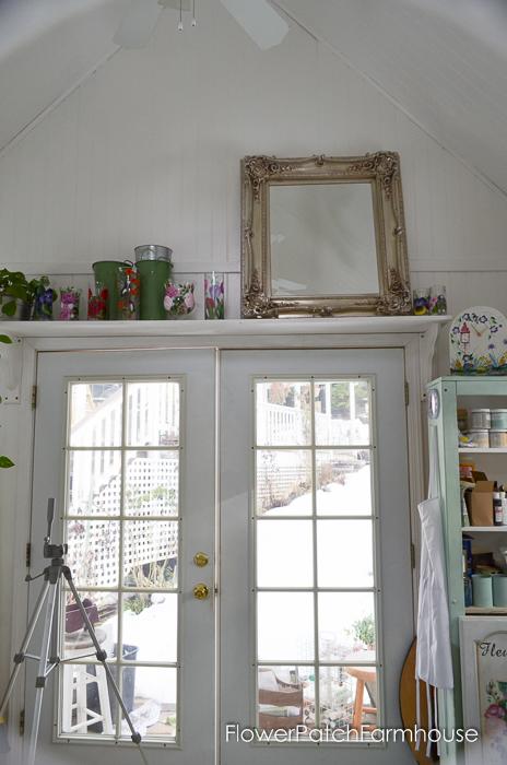 She Shed Studio Cottage Interior, FlowerPatchFarmhouse.com (10 of 10)