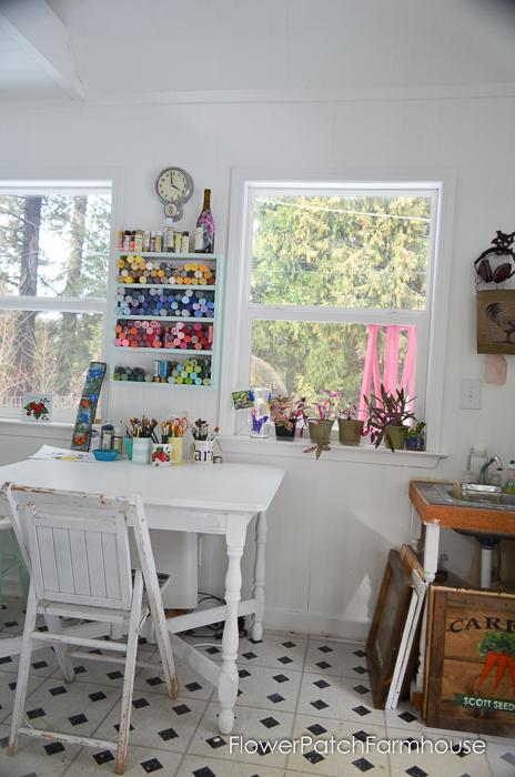 She Shed Studio Cottage Interior, FlowerPatchFarmhouse.com (3 of 10)