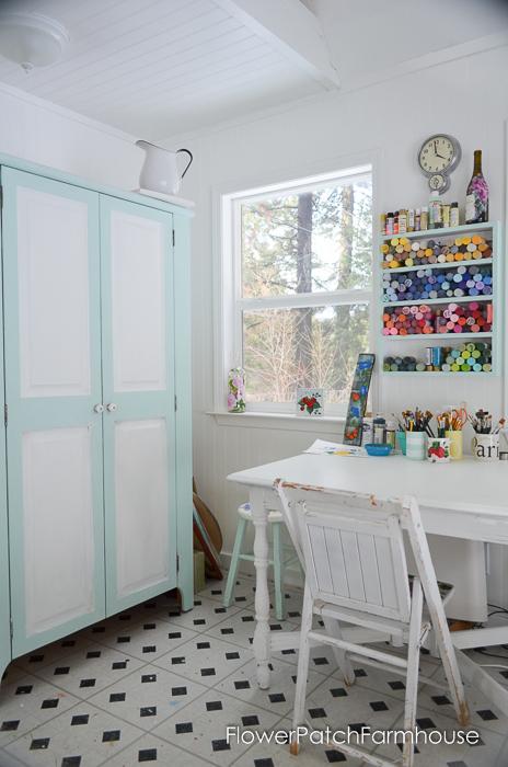She Shed Studio Cottage Interior, FlowerPatchFarmhouse.com (4 of 10)