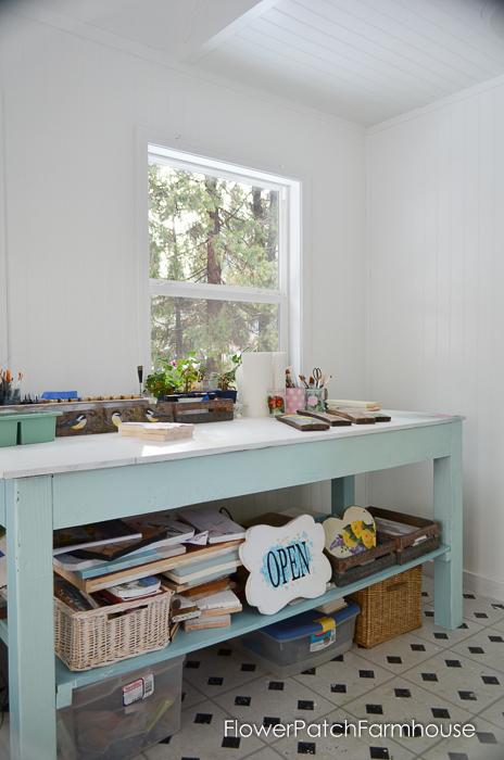 She Shed Studio Cottage Interior, FlowerPatchFarmhouse.com (7 of 10)