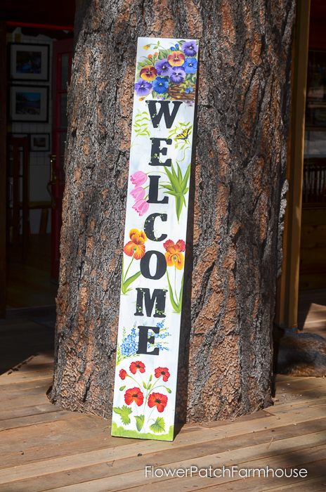Floral Welcome sign, FlowerPatchFarmhouse.com (2 of 4)
