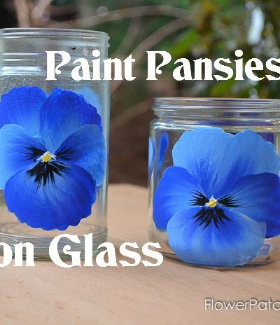 Learn How to Paint Pansies on Glass. A Pansy screams Spring and painting one is easier than you think. A video link is included. FlowerPatchFarmhouse.com