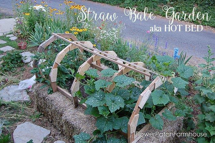 Strawbale Hotbed ac, FlowerPatchFarmhouse.com