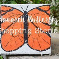 Paint a Monarch Butterfly Stepping Stone