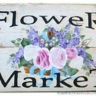 How to Paint a Flower Market sign