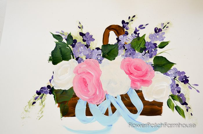 How to Paint a Flower Market sign or Flower Basket, FlowerPatchFarmhouse.com