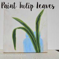 Paint Tulip Leaves