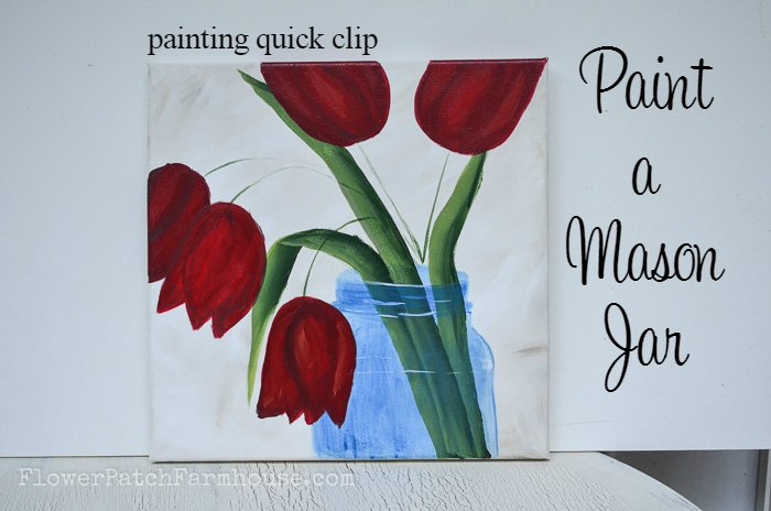 Paint a Mason Jar