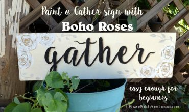Paint a Gather sign with Boho Roses