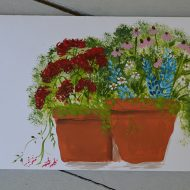 Paint a Flower Pot Card