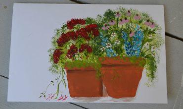 Paint a Flower Pot Card