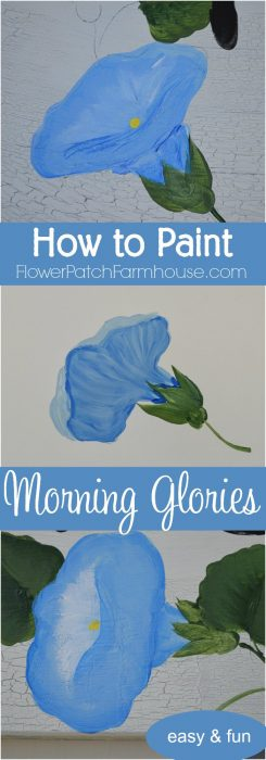 How to Paint Morning Glories. Add a gorgeous touch of blue to your decor, craft project or painting. Step by step, one stroke at a time, learn to paint these beautiful blooms! Easy for beginners, fun for everyone. Popular Pin