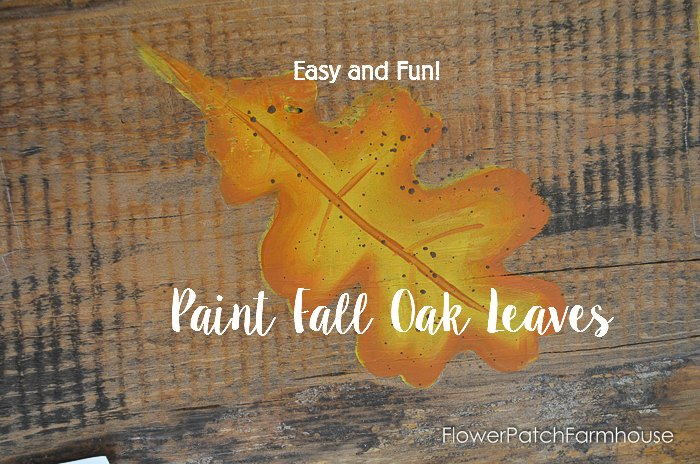 How to Paint Fall Oak Leaves