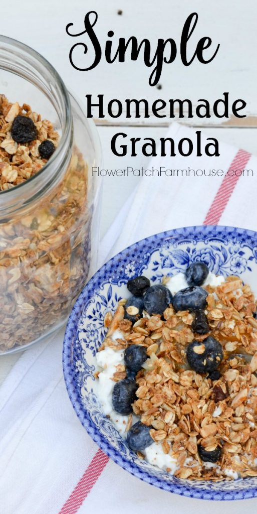 Simple homemade granola, easy breakfast recipe or topping for ice ...