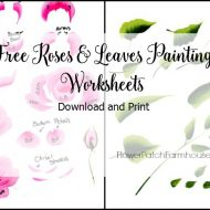 Free Printable Rose and Leaves worksheets