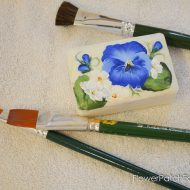 How to Paint Flowers on Bars of Soap