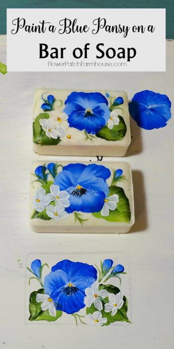 How to Paint a Pansy on a Bar of Soap Easy painting lesson Tutorial