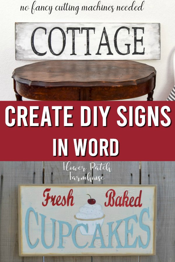 diy signs with text overlay, create diy signs in word, Flower Patch Farmhouse