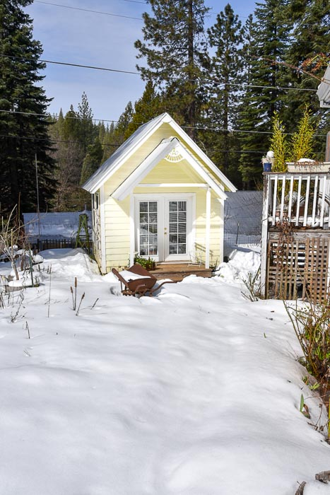 Flower Patch Cottage studio in snow