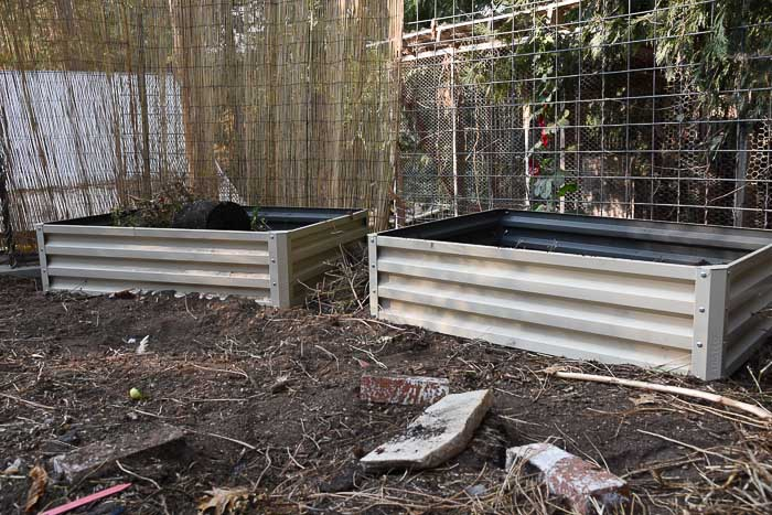 Metal raised beds. Flower PatchFarmhouse.com