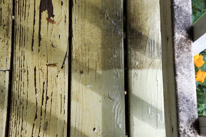 power washing deck boards
