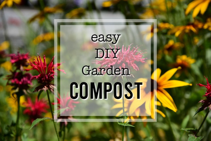 easy DIY Garden compost, flower patch farmhouse